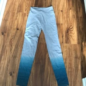 Pants - Kohls: ombré styled leggings; faded to blue